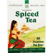 Spiced Masala Chai Tea bags by Palanquin (caffeinated black tea) 80 bags