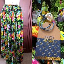 EARTH ANGEL NWT UK 12 Floral Maxi Skirt Viscose Summer Gypsy/ Hippy/ Beach