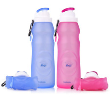 baiji bottle ll120 Silicone Water Bottles Sports Camping Canteen 20-Ounces