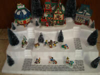 Christmas Village Display Platform J23 For Dept 56 Lemax Dickens + More