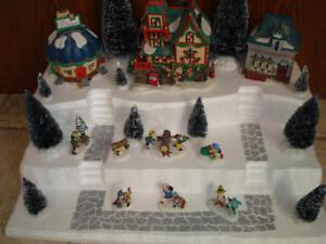 Christmas Village Display Platform J23 For Dept 56 Lemax Dickens + More