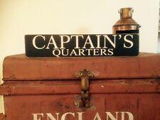 Captains Quarters Sign Old Vintage Look Boat Ship Nautical Bathroom Man Cave