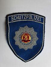 DDR Ärmelabzeichen Aufnäher -Schutzpolizei- blau Trapo Transportpolizei