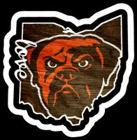 Cleveland Browns Magnet Dawg Pound Custom Vinyl NFL Ohio Magnet wood looking