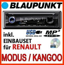 BLAUPUNKT Renault Modus & Kangoo - Auto RADIO CD MP3 USB AUTORADIO - EINBAUSET