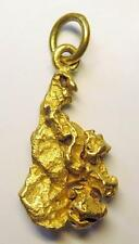 Natural Gold Nugget Pendant w/ Pure Gold Attached Bail & Ring 11 Grams STUNNING