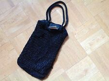 AUTHENTIC DOLCE & GABBANA Bag Black Beaded & Woven Tote