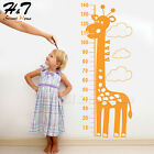 Giraffe Growth Height Chart Measure Ruler Vinyl Wall Sticker Decal Kid Baby Room