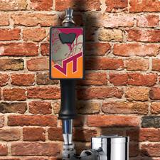 Virginia Tech Hokies beer tap handle with removable bottle opener