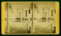 A019, James Cremer Stereoview, # 463, Independence Hall, Phila, PA c.1870's