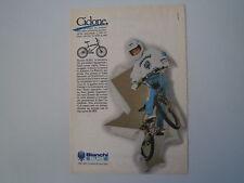 advertising Pubblicità 1985 BICICLETTA BIANCHI BIMX BI MX