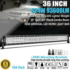 "36INCH 624W PHILIPS LED LIGHT BAR SPOT FLOOD COMBO DRIVING CAR BOAT 35"" 37"" 38"""