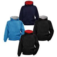 Kids Boys Girls Hoody Unisex Hoodie Plain Fleece Hooded Sweatshirt Jumper Top UK