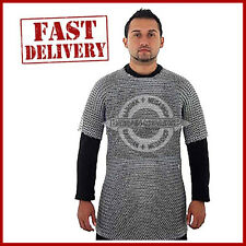 Medieval Aluminium Chainmail Shirt Butted Chain Mail Armor for Role Play d@#9