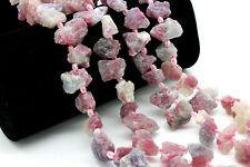 Pink Tourmaline, Raw Pink Tourmaline Chips Rough Nugget Natural Gemstone Beads
