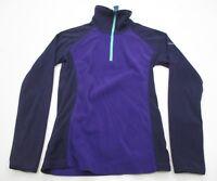 COLUMBIA Women's Size XS 1/4 Zip PULLOVER Purple Fleece Jacket