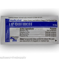 Lot of 144 Medicated Lip Ointment Packets Balm Cream First Aid Survival Kits