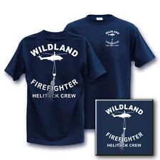 WILDLAND HELITACK CREW FIREFIGHTER XLarge wildfire T-Shirt XL