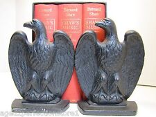 Old Cast Iron Eagle Bookends mid century era ornate detailed bird book ends ci