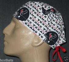 HOUSTON TEXANS NFL FOOTBALL SURGICAL SCRUB HAT / FREE CUSTOM SIZING!
