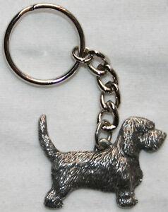 PBGV Petit Basset Griffon Vendéen Dog Fine Pewter Keychain Key Chain Ring