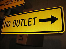 36X12 NO OUTLET AUTHENTIC DOT STREET TRAFFIC ROAD SIGN 3M HIGH INTENSITY REFLECT