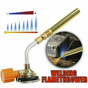 1300℃ BUTANE GAS BLOW TORCH FLAMETHROWER BURNER CAMPING WELDING BBQ TOOL