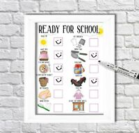 School Routine, Checklist, Reward Chart, Morning Routine, ADHD, Autism, PECS