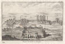 Iran Persien Persepolis Ruinen Original Kupferstich Niebuhr 1774