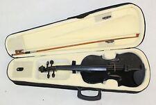 Tamaño Completo Principiantes Negro violín 4/4 escala 4-Cuerdas conjunto Semi Duro Estuche Arco