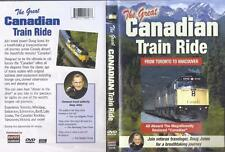 DVD:  THE GREAT CANADIAN TRAIN RIDE FROM TORONTO TO VANCOUVER