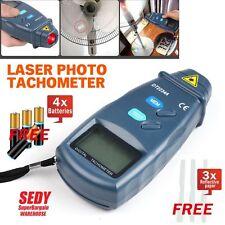 LCD Digital Laser Photo Tachometer Non Contact RPM Tach Last Max Min Value
