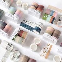 10x Vintage Washi Tape DIY Scrapbooking Planer Masking Tape Label Aufkleber Deko