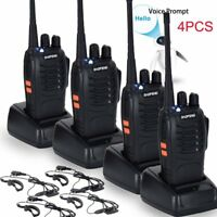 4PCS Baofeng BF-888S UHF 400-470 MHz 2-Way Ham Radio 16CH Walkie Talkie with Mic
