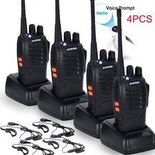 4PCS Baofeng BF-888S UHF 400-470 MHz 2-Way Ham Radio 16CH Walkie Talkie with Mic