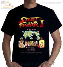 T-SHIRT street fighter II The World Warrior videogioco arcade picchiaduro tshirt