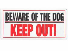 2 x Beware of the Dog Keep Out! Signs, Home Security, Warning