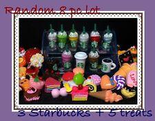 Littlest Pet Shop RANDOM 8 PC Custom Lot STARBUCKS TREATS Dollhouse Accessories