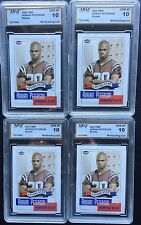 "LOT of 4 CARDS MINT 10 ADRIAN PETERSON 2004 OMR ""Future Star"" H. S. Football"