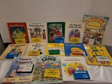 Vintage 13 Misc. Childrens Books With Audio Cassette Tapes Paperback Homeschool