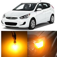 Alla Lighting Front Side Marker Light Amber LED Bulbs for 2012~17 Hyundai Accent