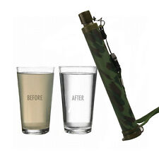 99.99% Life Emergency Water Filter Straw Outdoor Hiking Purification Camouflage