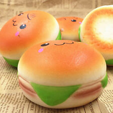 Squishy Hamburger Toys Emoji Bread Slow Rising Phone Bag Strap Charm 10cm