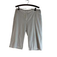 Chicos Crop Capri Pants Ivory Size 3 (XL)