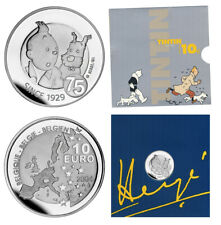 BELGIEN 10 EURO TIM UND STRUPPI (TINTIN ET MILOU) 2004 PP SILBER  ORIGINALFOLDER