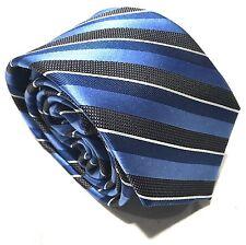 """Mens Express Neck Tie Slim Skinny Silk Blue Black White New 2.75"""" Plaid Check"""