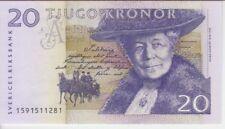 SWEDEN BANKNOTE P63a, 20 KRONOR 1999, UNC