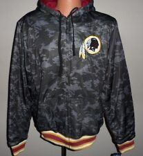 Washington Redskins Reversible Hoodie Black Camo  Adult Medium Free Shipping
