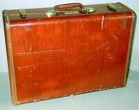 "1950s 21"" Brown Hardside Samsonite SUITCASE LUGGAGE Shwayder Bros Denver FREE SH"