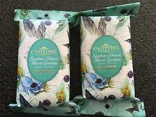 2 Castelbel Luxurious Scented Bath Bar Soap Gardenia Flower Gift Peacock Paper